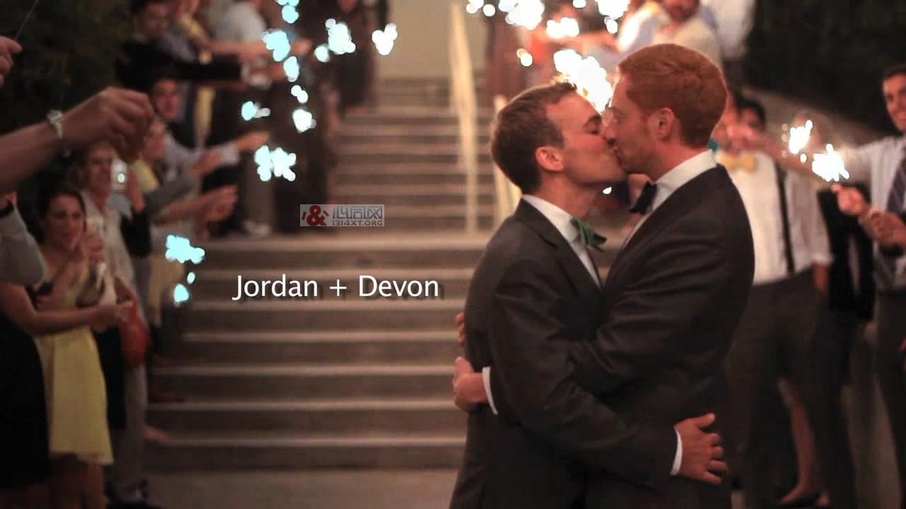 Jordan与Devon的幸福男男同志婚礼